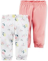 Carter's Baby Girls' 2-Pack Little Blooms Ruffle-Waist Pants