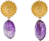 Stephen Dweck Amethyst Clip On Earrings