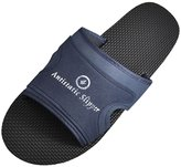 uxcell® Man Dust-free Plant Black Nonslip Sole Anti-static Slippers US