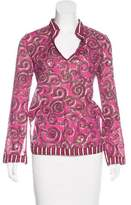 Tory Burch Long Sleeve Embellished Blouse