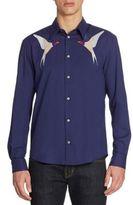 Stella McCartney Swallow Patchwork Regular-Fit Silk Shirt