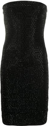 Philipp Plein Aurora crystal strapless dress