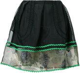 Coach sheer detail mini skirt - women - Silk/Cotton/Polyamide/Polyester - 0