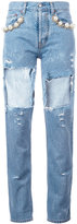 Forte Couture - cut-out jeans - women - Cotton - 28