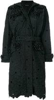 Simone Rocha scalloped edge embroidered trench coat