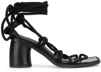 Ann Demeulemeester Rope Wraparound Sandals