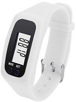 Unisex Fashion Digital LCD Pedometer,Ninasill Run Step Walking Distance Calorie Counter Watch Bracelet(White)