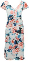 M&Co Floral layered hem shift dress