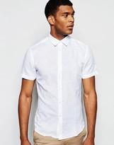 United Colors Of Benetton Linen Short Sleeve Shirt