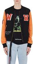 Off-White Men's Eagle Temp Leather Varsity Jacket