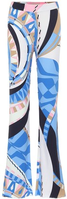 Emilio Pucci Printed high-rise flared jersey pants