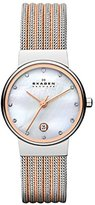 Skagen Women's 355SSRS Ancher Two Tone Silver and Rose Mesh Watch