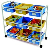 Copernicus Educational Products CC005-9-WBY Multi-Purpose Cart With & Yellow Tubs