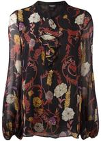 Giambattista Valli floral print longsleeved blouse - women - Silk/Acetate/Viscose - 48