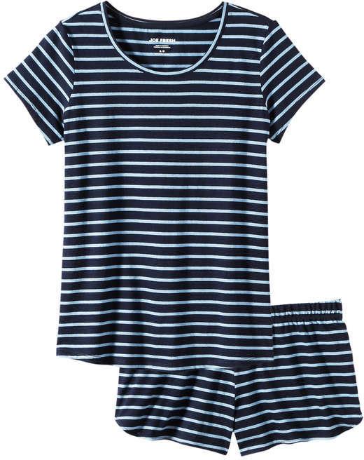 Joe Fresh Women's Stripe Sleep Set, Print 1 (Size L)