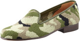Stubbs and Wootton Camouflage Needlepoint Smoking Slipper