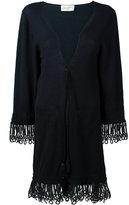 Antonia Zander cashmere drawstring cardi-coat - women - Cotton/Polypropylene/Cashmere - S