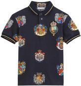 Dolce & Gabbana Sicilian badge print polo