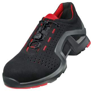 UVEX 1 X-Tended Support Work Shoe - Safety Trainer S1 SRC ESD - Red-Black - Size 8