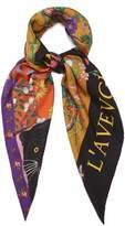 Gucci Patchwork-print silk-twill scarf