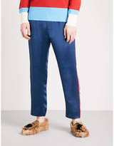 Gucci Side-stripe Satin Trousers