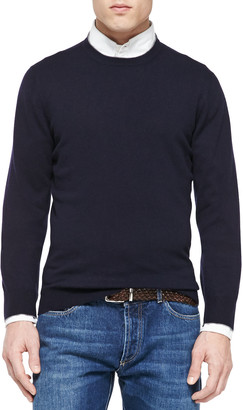 Brunello Cucinelli Cashmere Crewneck Pullover Sweater