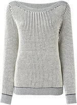 Max Mara boat neck jumper - women - Cotton/Polyamide/Polyester/Viscose - M