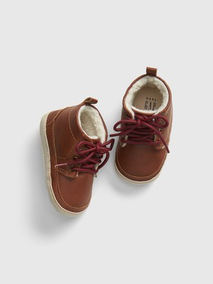 Gap Baby Sherpa-Lined Leather Booties