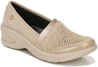 Bzees Studded Slip-On Loafers - Red-Hot