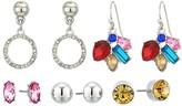 GUESS 6 on Multicolored Stud Set Earrings (Multi) Earring