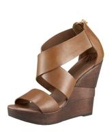 Opal Crisscross Wedge Sandal