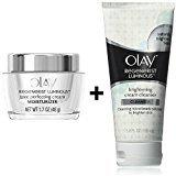 Olay Regenerist Luminous - Tone Perfecting Cream 1.7oz (48g) + Brightening Cream Facial Cleanser 5fl oz (150mL) (Tone Perfecting Cream+Brightening Facial Cleanser)