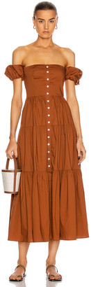 STAUD Elio Dress in Tan | FWRD