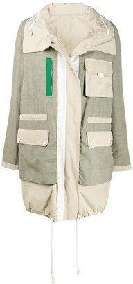 Army by Yves Salomon Colour Block Rain Coat