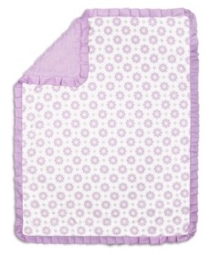 The Peanut Shell The Lilac Kisses Baby Girl Blanket Bedding