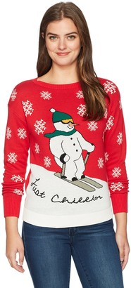 Isabella's Closet Women's Just Chillin Ugly Christmas Sweater