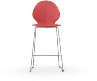 "Calligaris Basil Bar & Counter Stool Seat Height: Counter Stool (25"" Seat Height), Color: Red"