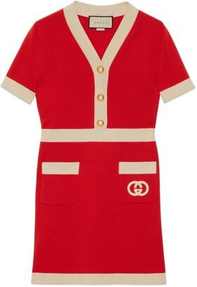 Gucci Wool dress with InterlockingG