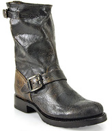 Frye Veronica - Distressed Chocolate Leather Short Boot