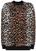 Stella McCartney cheetah jacquard crew neck jumper