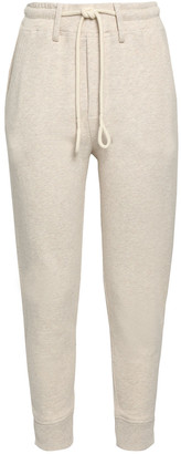 Vince Cropped French Cotton-terry Track Pants