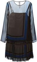 Sacai checked pleated dress