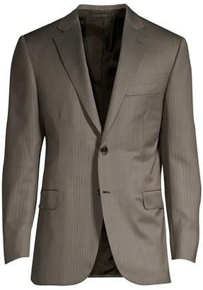 Brioni Pinstripe Wool Suit Jacket