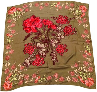 Gucci Green Silk Scarves