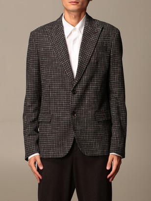 Alessandro Dell'Acqua Single-breasted Jacket In Virgin Wool And Cotton