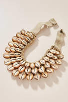 Twine & Twig Cowrie Bib Necklace