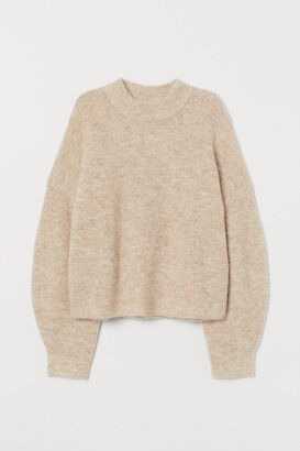 H&M Rib-knit Wool-blend Sweater
