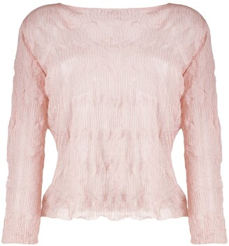 Emporio Armani Crinkled Knitted Top