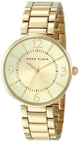 Anne Klein Women's AK/1788CHGB Gold-Tone Bracelet Watch
