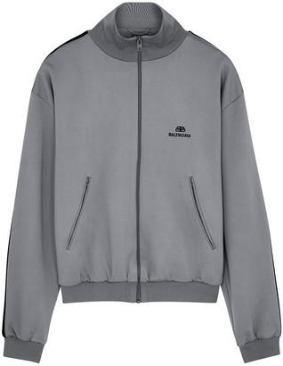 Balenciaga Grey logo jersey track top